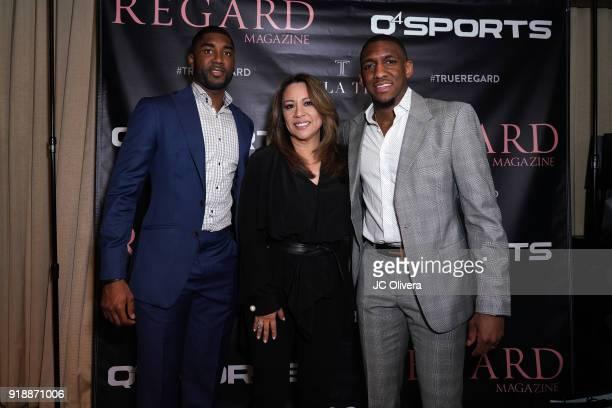 E'Twaun Moore Twila True and Choice Skinner attend Regard Magazine 2018 NBA AllStar PreParty hosted by Derek Fisher at Soho House on February 15 2018...