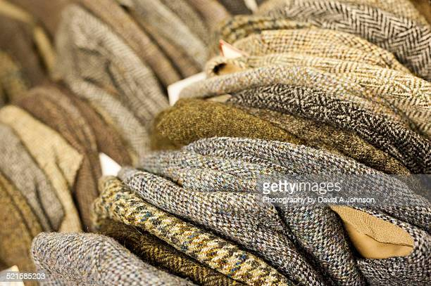 tweed caps-harris - tweed stock pictures, royalty-free photos & images