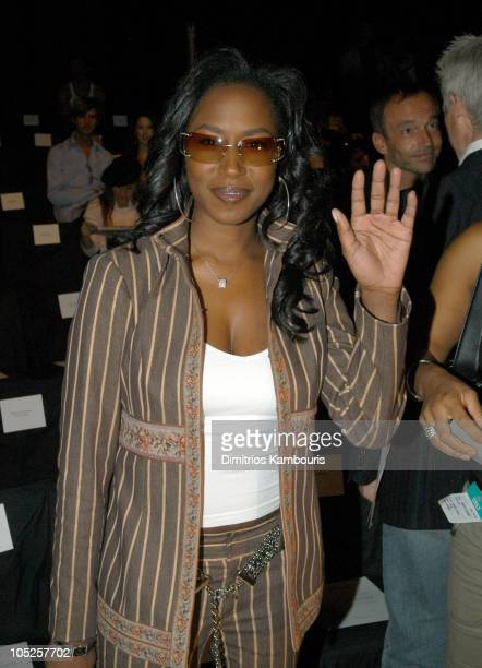 Tweet during MercedesBenz Fashion Week Spring 2004 Custo Barcelona Front Row at Bryant Park in New York City New York United States