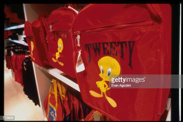 Tweety bag is on display at the Warner Bros Studio store October 23 1996 in New York City The store originally a three floor specialty store has been...