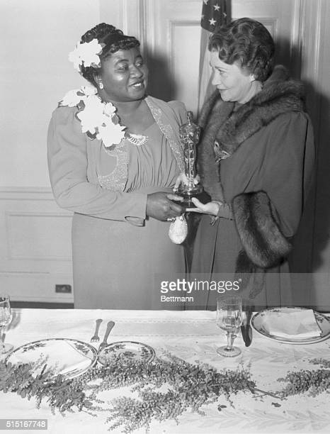 Twelfth Annual Banquet of the Academy of Motion Picture Arts and Sciences Los Angeles California Actress Fay Bainter presenting Hattie McDaniel her...