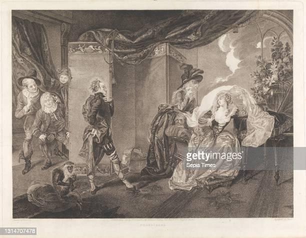Twelfth Night, Act III, Scene IV: Olivia's House, Thomas Ryder, 1746–1810, Irish, after Johann Heinrich Ramberg, 1763–1840, German, active in Britain...