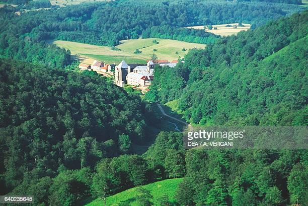 Twelfth-century monastery in Roncesvalles, on the Way of St James of Compostela Navarra, Spain.