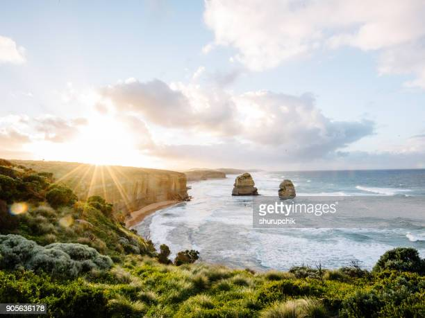 Twelve apostles at sunrise, Victoria, Australia