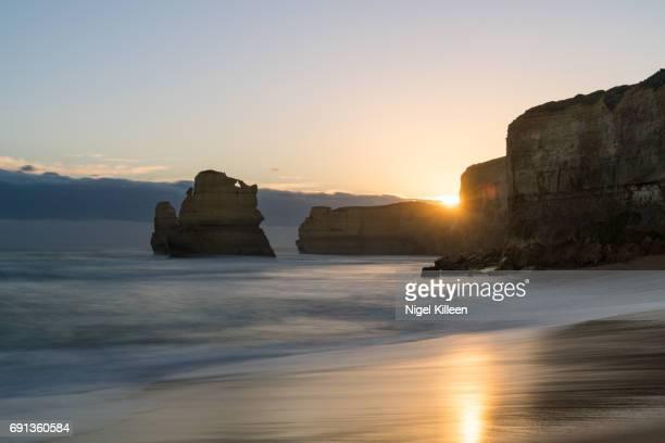 Twelve Apostles at sunset,