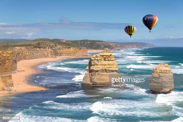 Twelve Apostles, Balloon flying over the coast