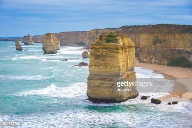 Twelve apostles. Great Ocean Road, Australia. Famous rock formations