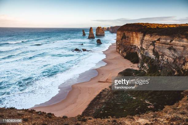 twelve apostles in australia - cliff stock pictures, royalty-free photos & images