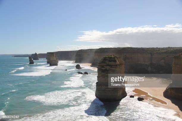 twelve apostles in great australian bight, victoria, australia - kangaroo island stock pictures, royalty-free photos & images