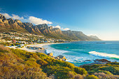 Twelve Apostles mountain in Camps Bay, Cape Town, South Africa
