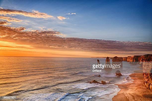 Twelve Apostles, Parque nacional de Port Campbell ao pôr do sol