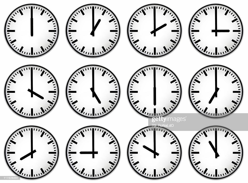 Twelve hours clock face : Stock Photo