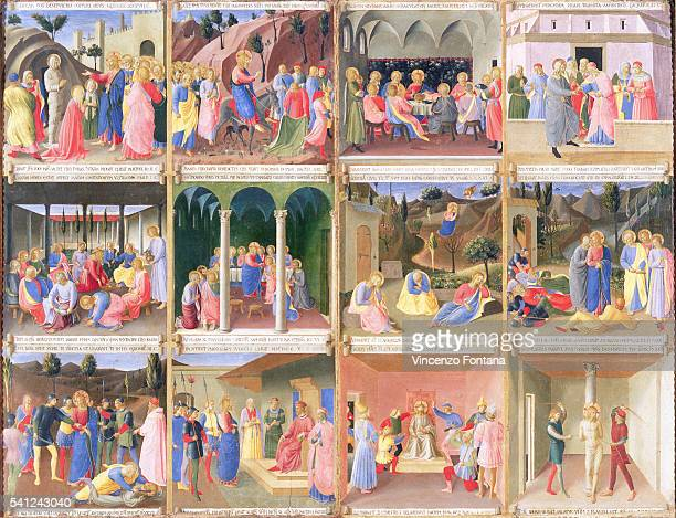 Twelve Scenes from the Armadio degli Argenti Painting Series by Fra Angelico