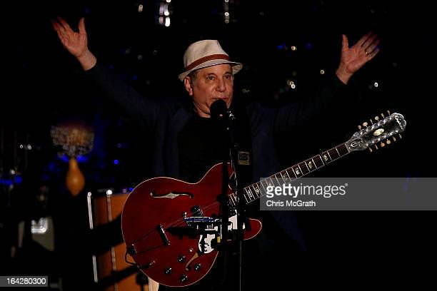 Twelve time Grammy award winner Paul Simon performs on stage during the Timbre Rock Roots Festival 2013 on March 22 2013 in Singapore