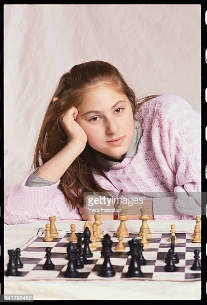 Twelve year old Hungarian chess prodigy, Judith Polgar.