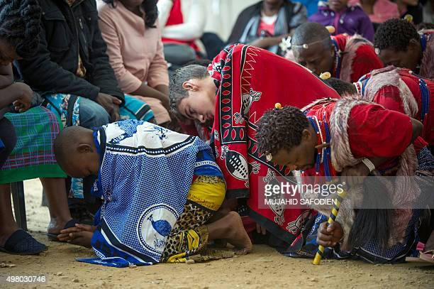 Twelveyearold South African Kyle Todd performs during his initiation ceremony to become a Sangoma or traditional healer at a traditional healer...