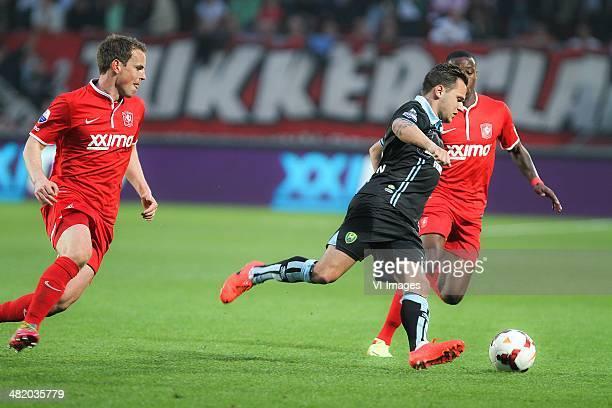 FC Twente vs ADO Den Haag Dutch Eredivisie 2013/2014 2014 at Grolsch Veste Enschede Rasmus Bengtsson trok ana de noodrem bij de doorgebroken Michiel...
