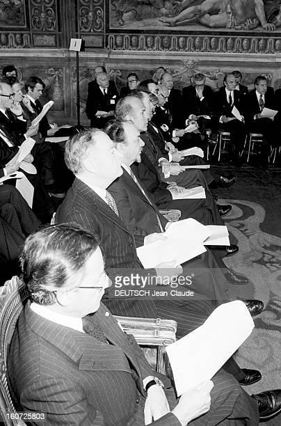 Twentieth Anniversary Of The Treaty Of Rome A Rome à l'occasion de la conférence au 'Sommet' pour le 20ème anniversaire de la signature du traité du...