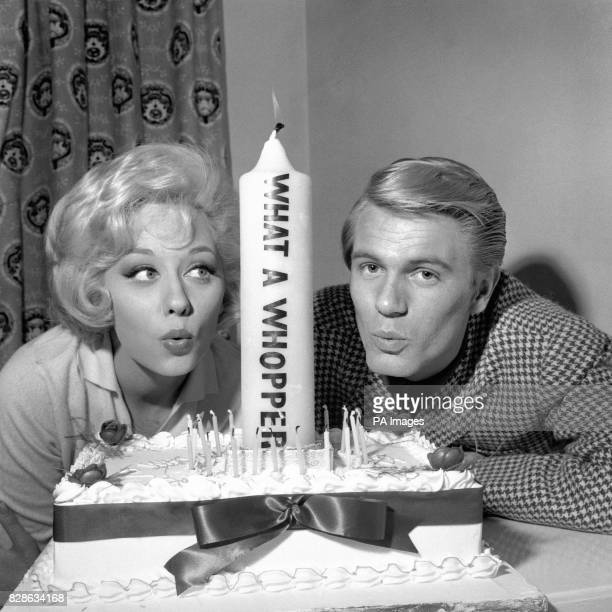Twenty candles and one 'whopper' so Adam Faith who is celebrating his 21st birthday as the pop singing idol of millions of teenagers has actress...