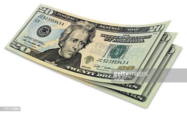 twenty dollar banknotes - number 20 stock pictures, royalty-free photos & images