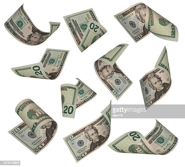twenty dollar bill - dollar sign stock pictures, royalty-free photos & images