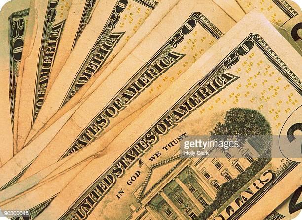 Twenty Dollar Bills, Money, Cash.