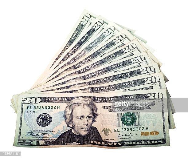 twenty dollars background - american one dollar bill stock pictures, royalty-free photos & images