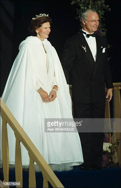 Twenty fifth wedding anniversary of King Carl Gustav and Queen Sylvia of Sweden in Sweden on June 19 2001