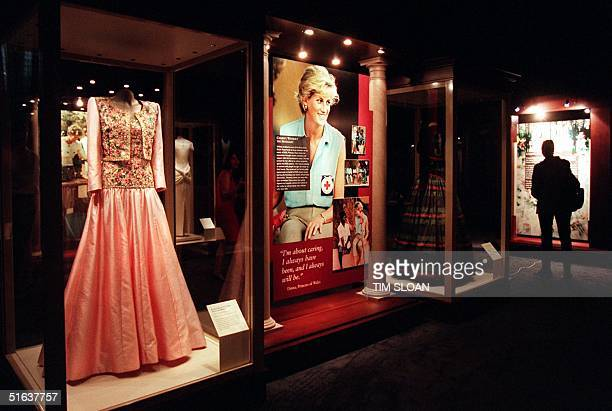 Twenty internationally recognized designer dresses once worn by the late Diana Princess of Wales are on exhibit at the International Trade Center at...