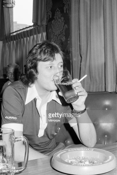 Twenty One year old British darts player Eric Bristow at his local pub in North London Here he relaxes with a pint and a cigarette 20th May 1978