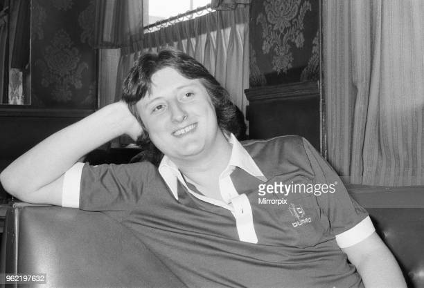 Twenty One year old British darts player Eric Bristow relaxing at his local pub in North London 20th May 1978