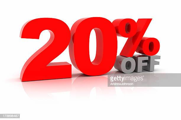 twenty percent off - percentage sign stock pictures, royalty-free photos & images