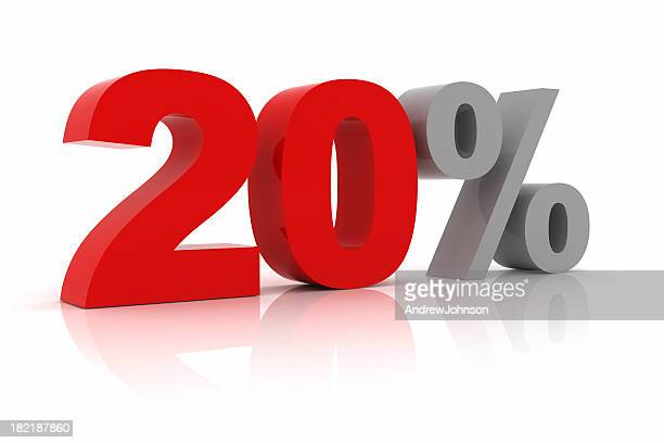 twenty percent - number 20 stock pictures, royalty-free photos & images
