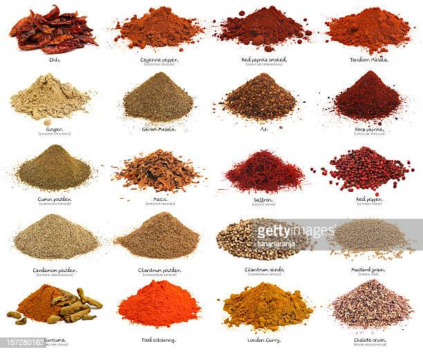 twenty spices. xxxl. first part. - pepper seasoning stock photos and pictures