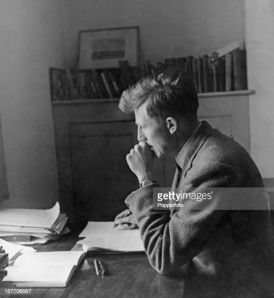 Twenty yearold English athlete Roger Bannister in a study at Exeter College Oxford where he is a third year medical student 23rd May 1949