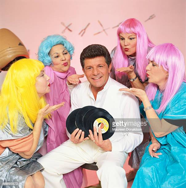 Twenty years on American singer and actor Frankie Avalon recreates his 'Beauty School Dropout' segment from the 1978 musical film 'Grease' A...