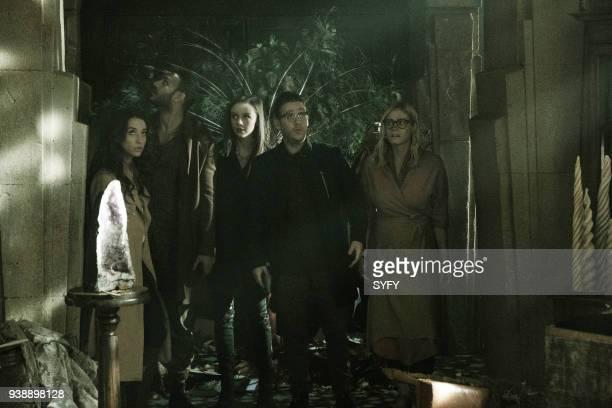 THE MAGICIANS 'TwentyThree' Episode 311 Pictured Stella Maeve as Julia Wicker Arjun Gupta as Penny Adiyodi Brittany Curran as Fen Trevor Einhorn as...