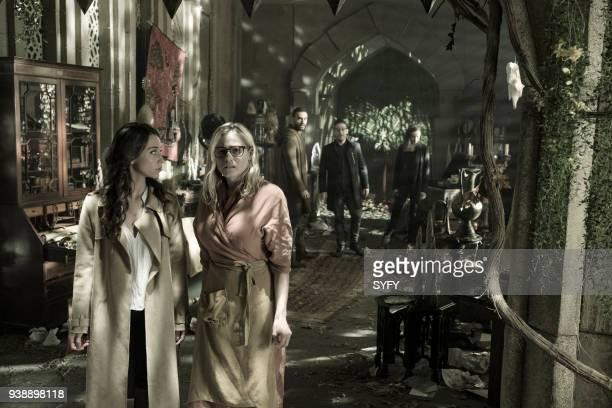 THE MAGICIANS 'TwentyThree' Episode 311 Pictured Stella Maeve as Julia Wicker Olivia Taylor Dudley as Alice Arjun Gupta as Penny Adiyodi Trevor...