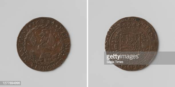 Twenty-year-old file from Regensburg between France, the Emperor, Spain and the Netherlands, calculation token charged by order of the Finance...