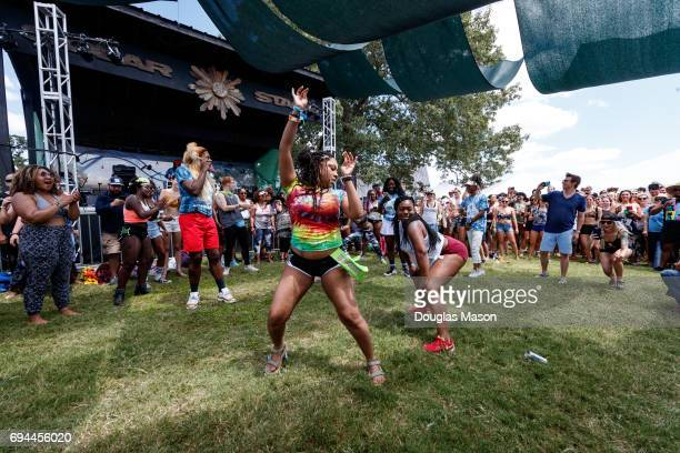 Twerk it out with Big Frida durnig the Bonnaroo Music and Arts Festival 2017 on June 9 2017 in Manchester Tennessee