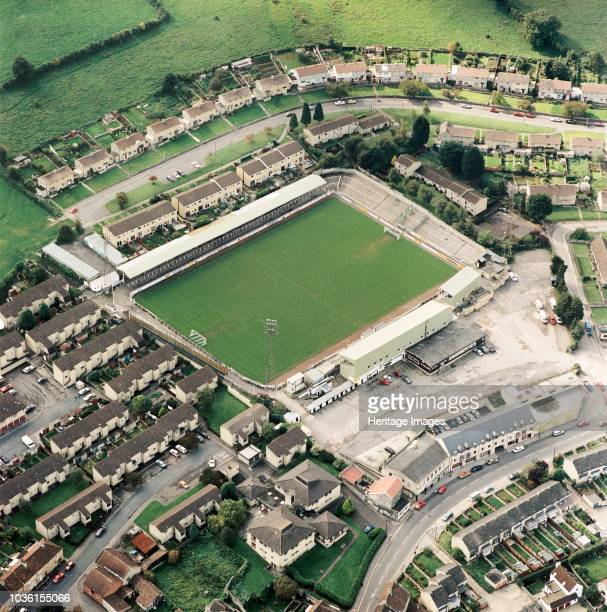 Twerton Park Bath Somerset 1992 Aerial view of the current home ground of Bath City Football Club and also home of Bristol Rovers FC between 1986 and...