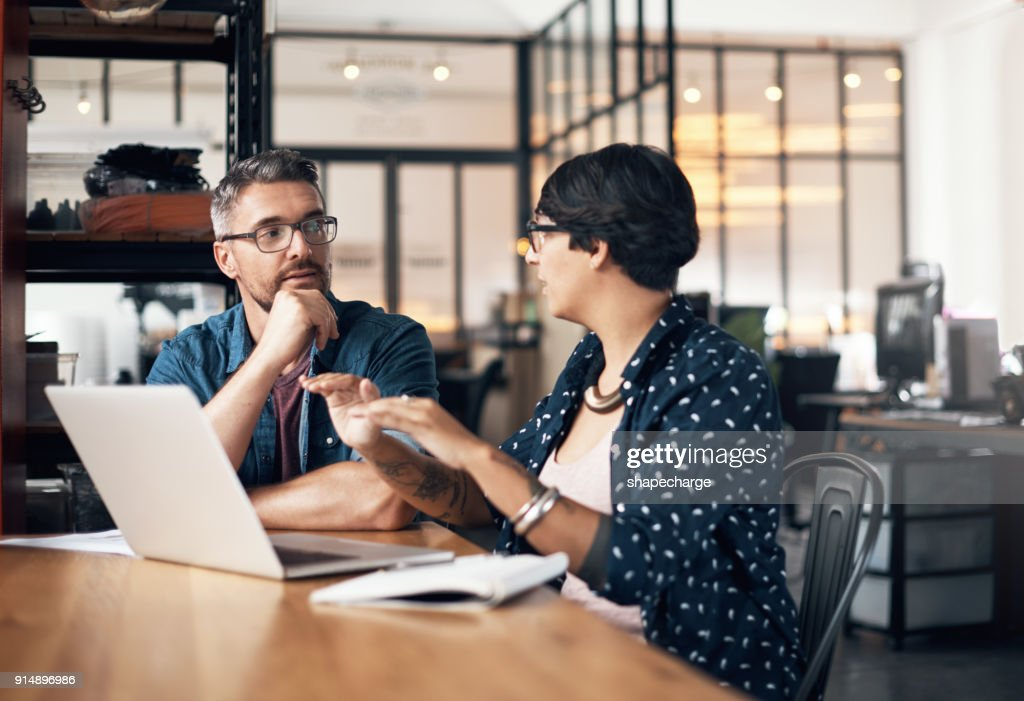 Twice the creative input on this project : Stock Photo