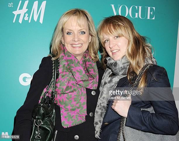 Twiggy and Carly Lawson attend the launch of Italian fashion house Marni's collection for HM at HM Regent Street on March 7 2012 in London England