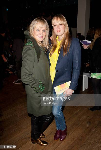 Twiggy and Carly Lawson attend the Matthew Williamson show during London Fashion Week Fall/Winter 2013/14 on February 17 2013 in London England