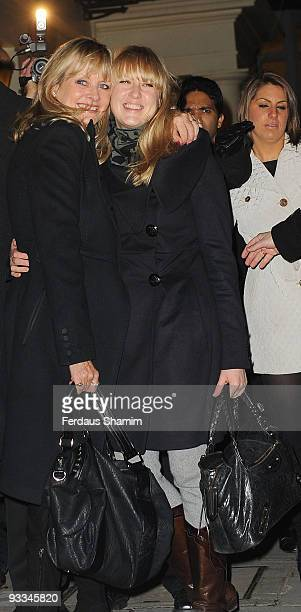 Twiggy and Carly Lawson attend the switch on ceremony for the Stella McCartney store christmas lights on November 23 2009 in London England