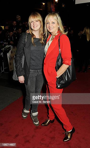 Twiggy and daughter Carly Lawson arrive at the Gala Press Night performance of 'Viva Forever' at the Piccadilly Theatre on December 11 2012 in London...