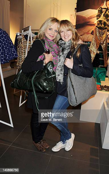 Twiggy and daughter Carly Lawson attend the launch of Italian fashion house Marni's collection for HM at HM Regent Street on March 7 2012 in London...