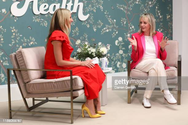Twiggy and Gwyneth Paltrow on stage at In goop Health London 2019 on June 29 2019 in London England