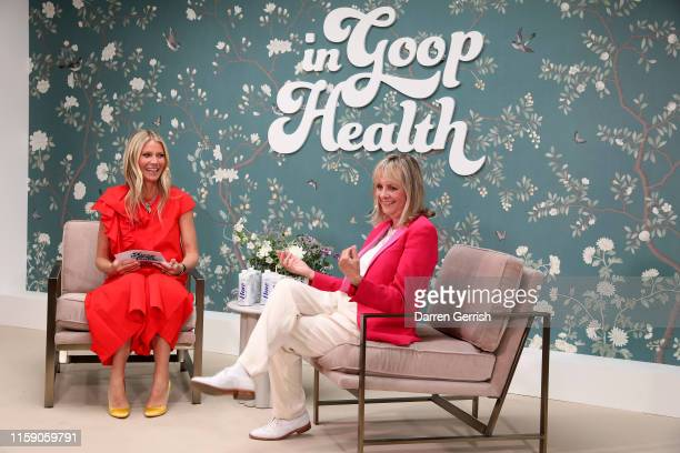 Twiggy and Gwyneth Paltrow on stage at In goop Health London 2019 on June 29, 2019 in London, England.