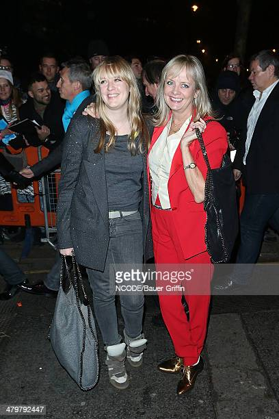 Twiggy and her daughter Carly Lawson are seen at the Viva Forever after party on December 12 2012 in London United Kingdom